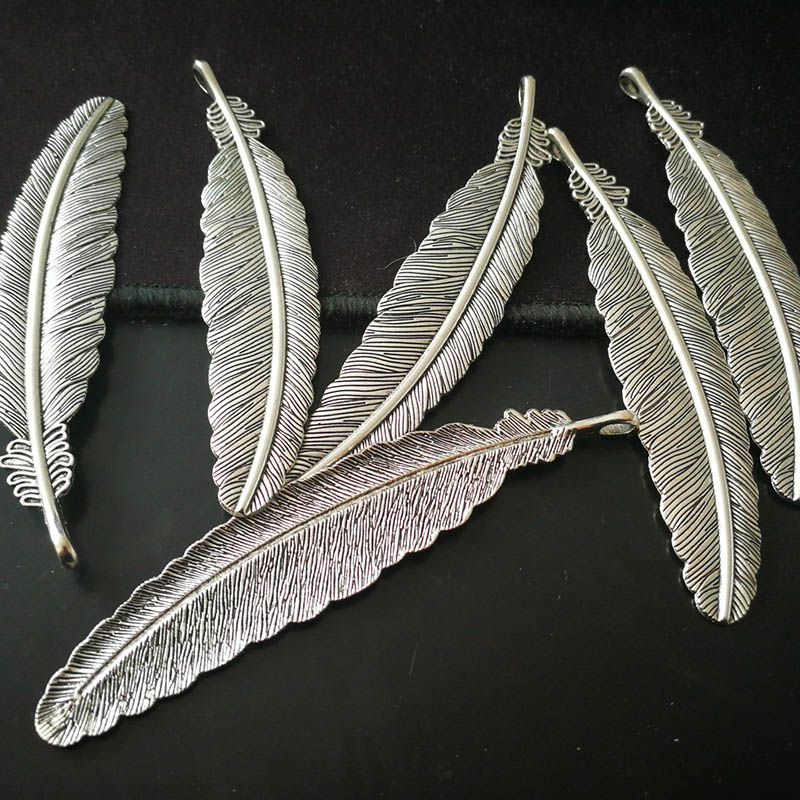 Vintage Metal Feather Bookmark Creative Retro Silver Plated Book Marks For Girls Kids Gifts School Office Stationery Supplies