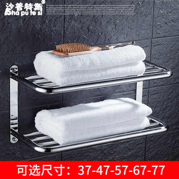Sus 304 Stainless Steel Bathroom Shelf 3 Layers Square For Cosmetic And Shapoo Bathroom Towel Rack Hanger Multi Use Bathroom Set