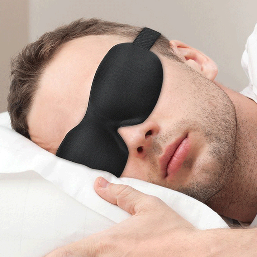 Upgraded 3D sleep mask total blackout eyeshade sleeping aid for travel rest blindfold soft sleeping eye mask Women Men Eyepatch 5