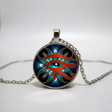 Pharaoh Eye Glass Necklace Handmade Private Photo Necklace DIY Jewelry Custom Necklace Gift Egypt Element