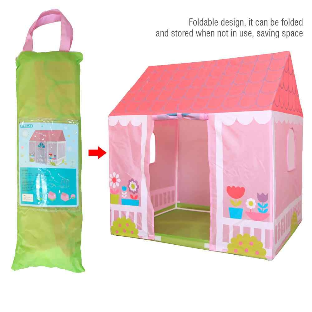 Kids Garden House Tent Indoor and Outdoor Toy Tent Garden House Portable Playhouse for Boys Girls Fun Plays Foldable design