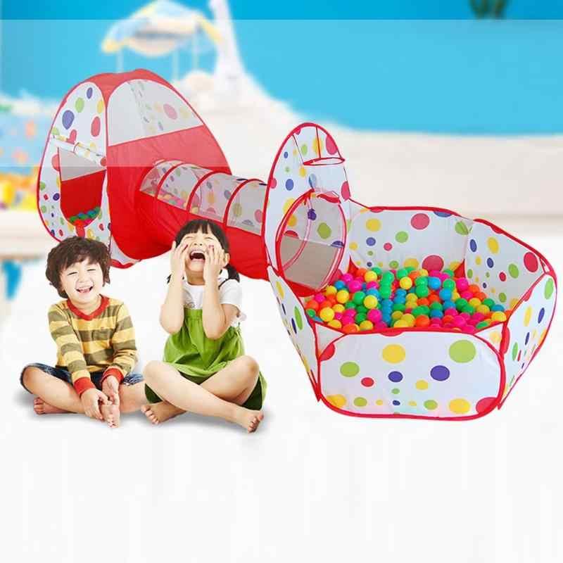 Kids Tenda Pipa Merangkak Besar Bermain Game Rumah Bayi Bermain Yard Bola Kolam Renang Tenda untuk Anak-anak Mainan Bola Kolam Renang Laut bola Pemegang Set