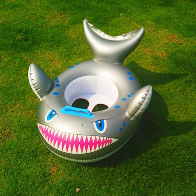 Cartoon Shark Inflatable Baby Swimming Ring Toddler Neck Float Circle SeatCartoon Shark Inflatable Baby Swimming Ring Toddler Neck Float Circle Seat