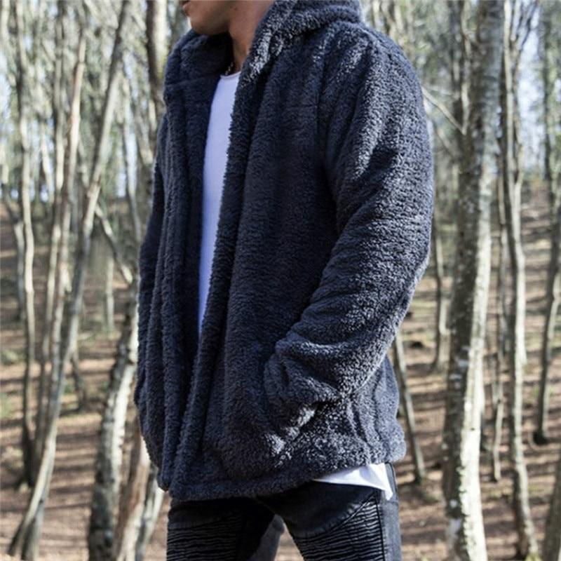 HIRIGIN Newest Men's Winter Slim Casual Warm Hooded Coat Men Jacket Fleece Outwear New Snow Thick Suit Clothes 5