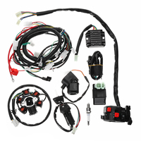 Full Electrics Wiring Harness Loom CDI Coil For GY6 150CC ATV Quad Buggy Go Kart With Rectifier+ Solenoid Relay+ Ignition Switch