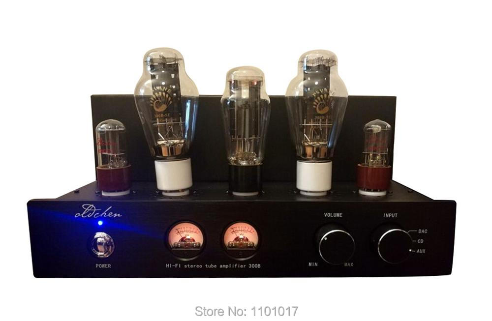 Laochen 300B Tube Amplifier HIFI EXQUIS Single ended Class A Handmade OldChen Amp Black Version