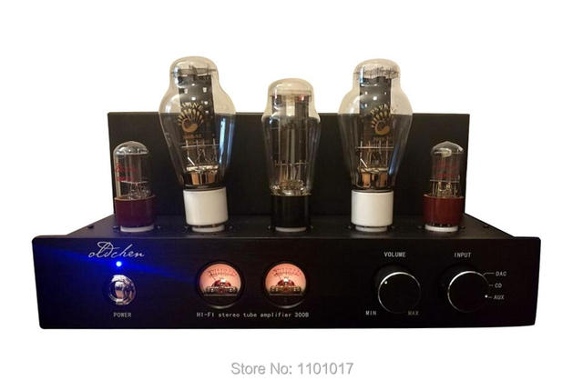 Laochen 300B Tube Amplifier HIFI EXQUIS Single-ended Class A Handmade OldChen Amp Black Version