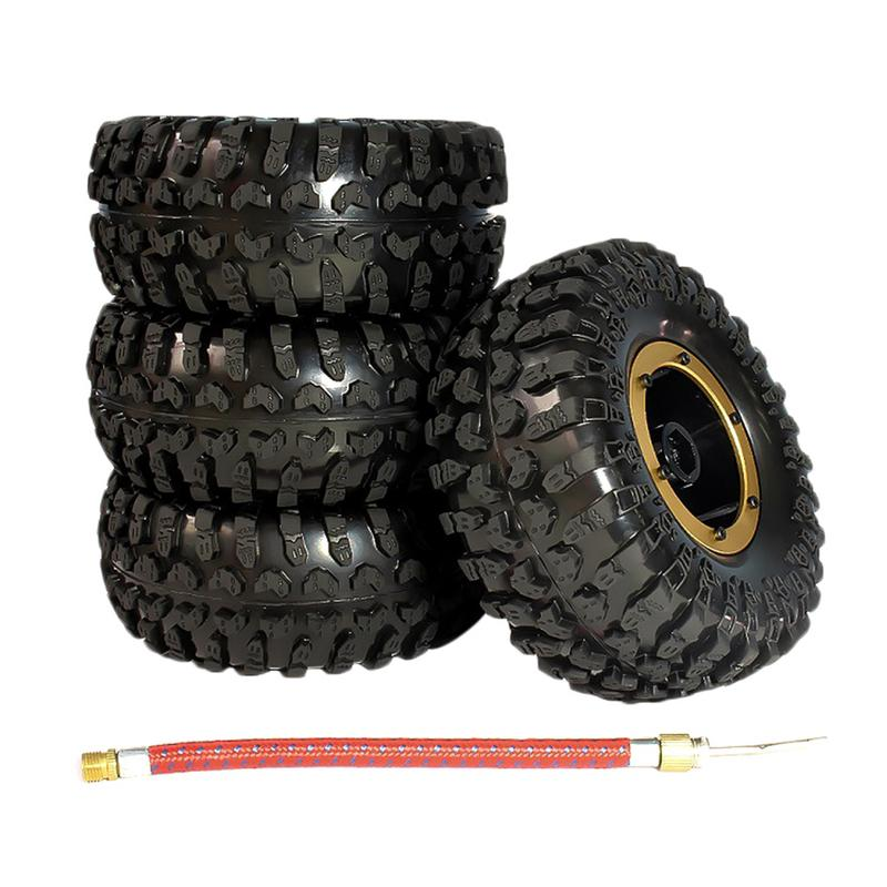 4PCS/Set Rubber Pneumatic Tire With Inflatable Nozzle Fitting Diameter Climbing RC Car Big Truck 2.2 Inch Wheel Accessories4PCS/Set Rubber Pneumatic Tire With Inflatable Nozzle Fitting Diameter Climbing RC Car Big Truck 2.2 Inch Wheel Accessories