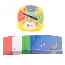 54 шт. Йога поза карточные игрушки Веселая семейная Йога игра гибкость и баланс для детей подарок визуальное восприятие образовательные