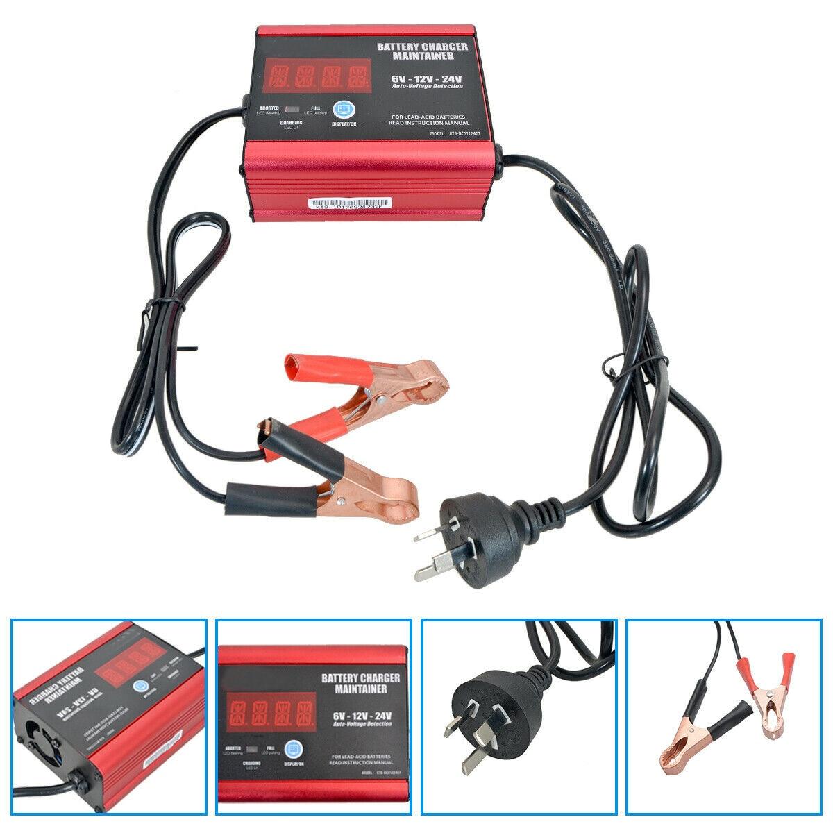 Chargeur automatique de batterie de voiture Intelligent 190/240 V 6 V/12/24 V 140 W 200AH prise de réparation d'impulsion AU
