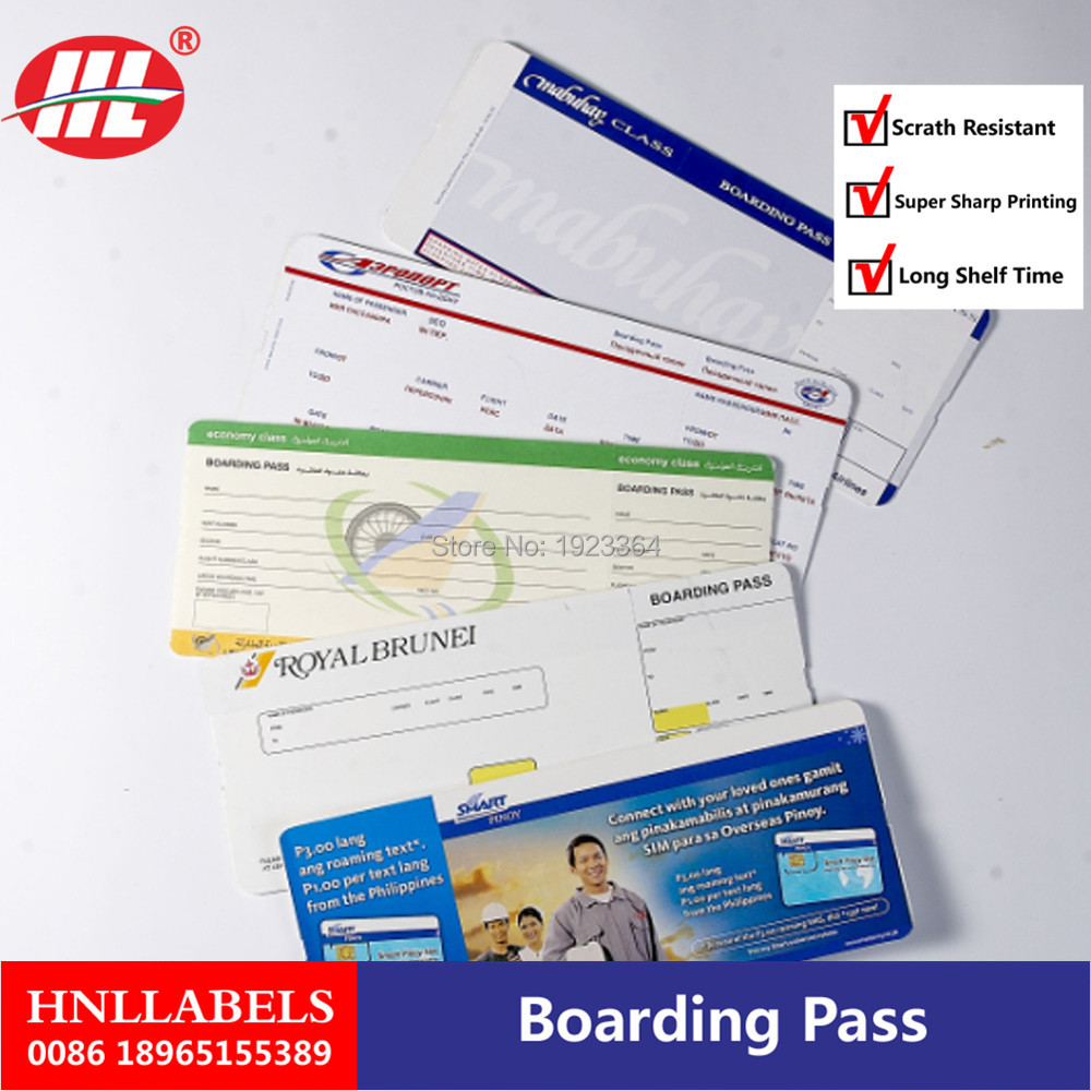 Print Ticket, Flight Boarding Pass In Thermal Roll Paper Material