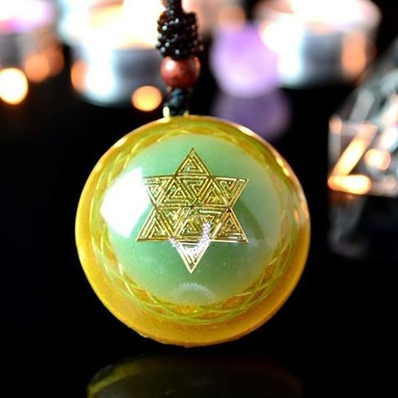 Elite Orgonite Energy Crystal Pendant Resin Crafts Lover Pendant Necklace Radiation Prevention Men Women Love Career Jewelry