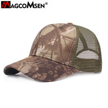 bdca05a42be98 MAGCOMSEN Men Summer Baseball Caps Mesh Camouflage Tactical Snapback Caps  Breathable Military Army Hats Sunproof Hike Caps XJ-02
