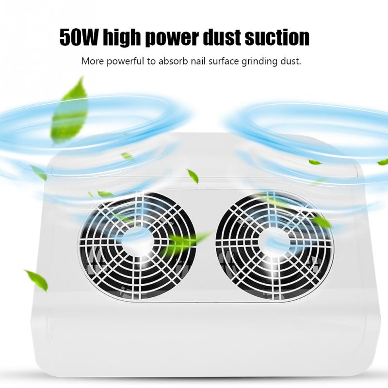Nail Art Salon Suction Dust Collector Manicure Machine 50w Dust Machine Vacuum Cleaner Manicure Pedicure Tools