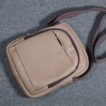 Small messenger bag men shoulder bag genuine leather men bag male crossbody bags for men handbag flap vintage designer