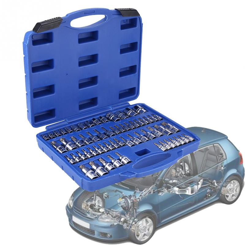 """USA Made 5pc 1//4/"""" Drive Socket Set in Handy Carry Sleeve"""