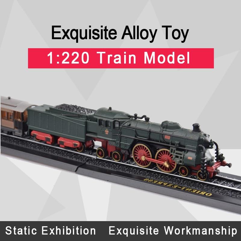 Atlas 1:220 Diecast Car Model Minitrains Model Diecast Train Tram With Train Tracks Car Toys For Collection