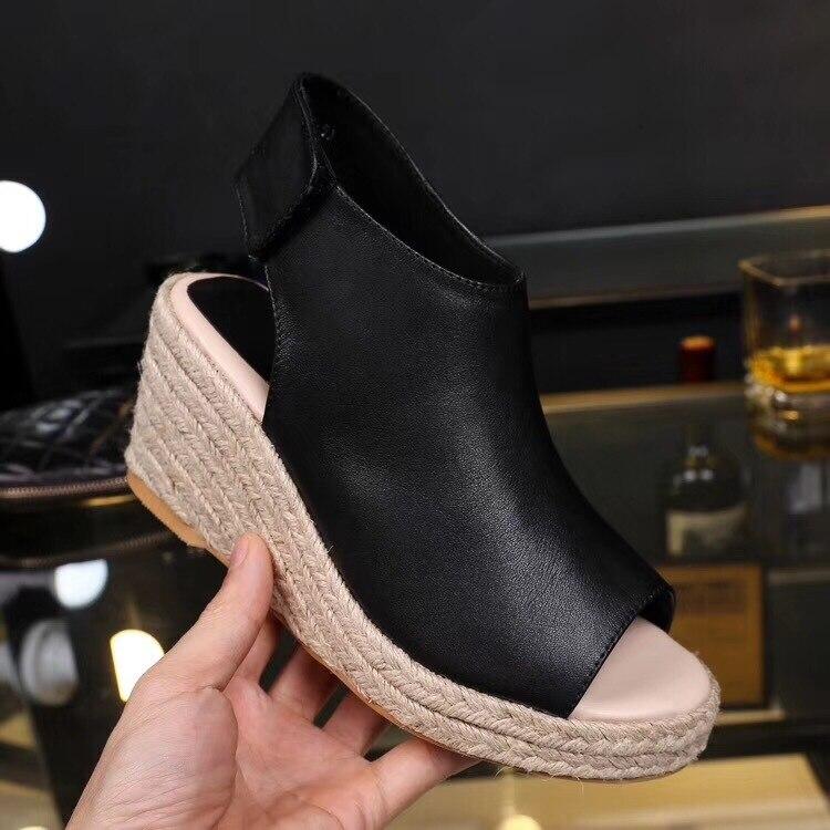 2018 г. Лидер продаж Женская летняя обувь кожаные босоножки на платформе на высокой танкетке крюк петля Гладиатор Concies Повседневное сандалии