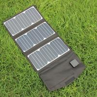 BUHESHUI 5V 27W Portable Solar Panel Charger Foldable Solar Charger Power Bank With Dual USB Ports Waterproof Free Shipping