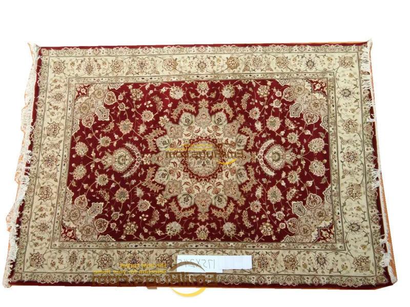 Laine ou soie persan tissé coureur tapis chambre étage décoration maison pour salon laine tricot tapis musée tapis