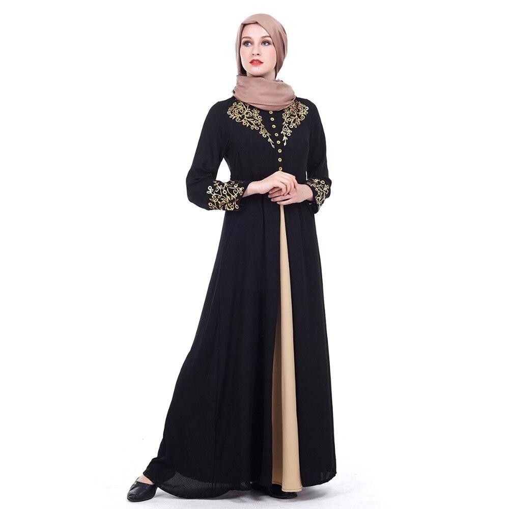 4cb8028278055 US $28.2 30% OFF|women Long sleeve maxi Dress Islam Arabia robe Muslim  Abaya Gowns Dubai Full coverage evening gown Thobe Arab Turkey coat  Z80502-in ...