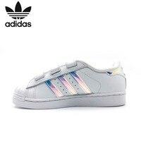 Adidas Клевер суперзвезда золото Стандартный в виде ракушки головы маленькие белые туфли Magic детская палочка детская обувь AQ6280