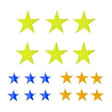 6PCS Car Door Sticker Decal Personality Star Pattern Warning Tape Reflective Strips Car-styling 3 Colors Safety Mark Accessories