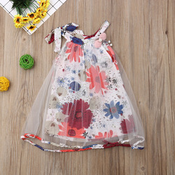 Платье для маленьких девочек Pudcoco, милое летнее платье-пачка для новорожденных девочек, праздничное Цветочное платье принцессы