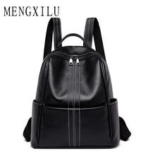 Купить с кэшбэком 2019 New Fashion Leather Backpack Women Travel Bags for School Girls High Quality Shoulder Bags Designer Zipper Tote Bags Plecak
