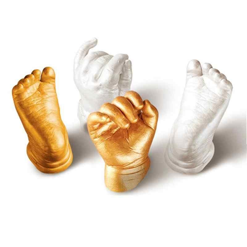 3D Hand & Foot พิมพ์แม่พิมพ์สำหรับแป้งเด็กพลาสเตอร์ Casting Kit Handprint รอยเท้า Keepsake ของขวัญเด็ก Growth Memorial ของขวัญ