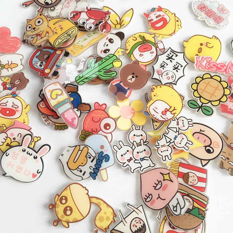 Apparel Sewing & Fabric 1pcs Sailor Moon Girls Cartoon Brooch Icons On Backpack Acrylic Badges Cartoon Pin Badges For Clothes Decoration Badge Z45 Badges