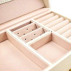 Image 4 - Estuche para joyería, cajas, cajas de maquillaje, joyerías y cosméticos, estuche de belleza con 2 cajones y 3 capas