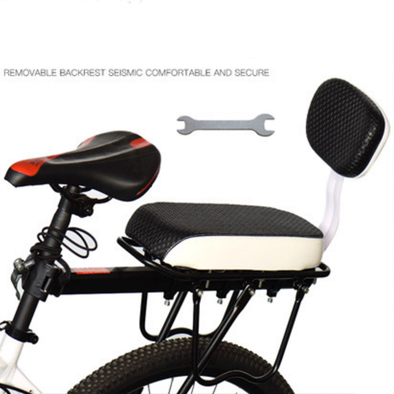 New Hot Bicycle Bike Seat Chair Pu Leather Cover Rack Cushion For Kid's Bicycle Seat Back Saddle Bicycle Parts High Quality