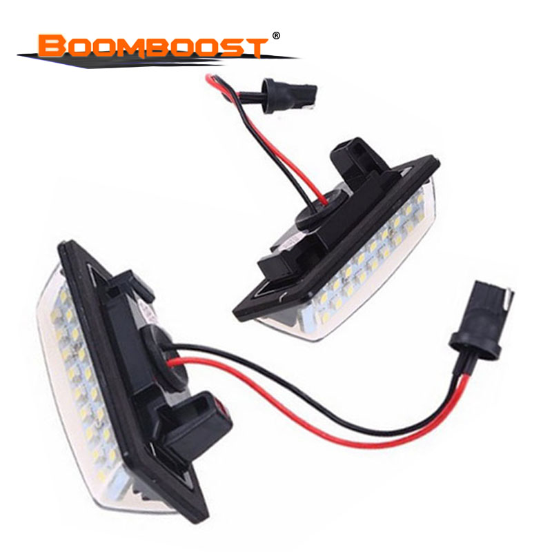 Car-styling 2x Error Free Xenon White lighting for <font><b>Nissan</b></font> TEANA E11 <font><b>E12</b></font> C25 C26 LED license plate light 2pcs image