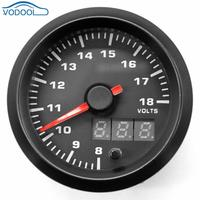 2 automobile tachometer Car Universal Voltmeter/ rpm meter 7 Color Blacklight LED Digital Pointer Water Temp/Oil Pressure Gaug
