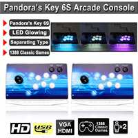 Box Key 6S 1388 in 1 LED Arcade Controller Machine Retro Game Combination Double Console