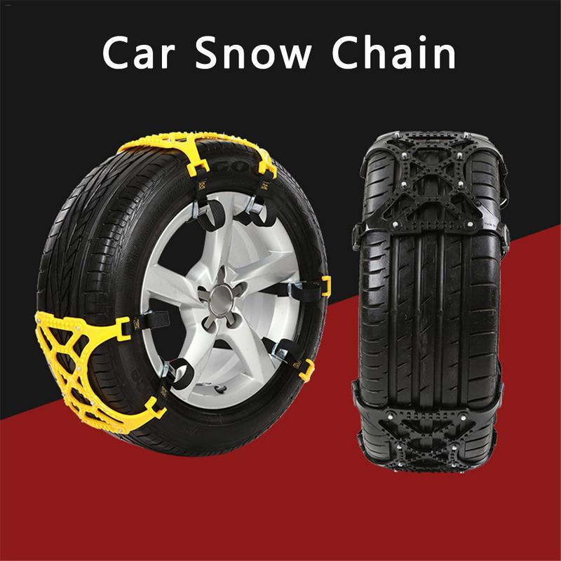 3 PCS/Pack Universal Thickened TPU Car Tire Anti skid Chain Emergency Tire Anti skid Belt For Winter Snow Road Sent Gloves