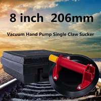 Black 8 inch 206mm Vacuum Pump Glass Lifters Suckers Suction Pad Dent Puller Suction Cup Big Size With Case
