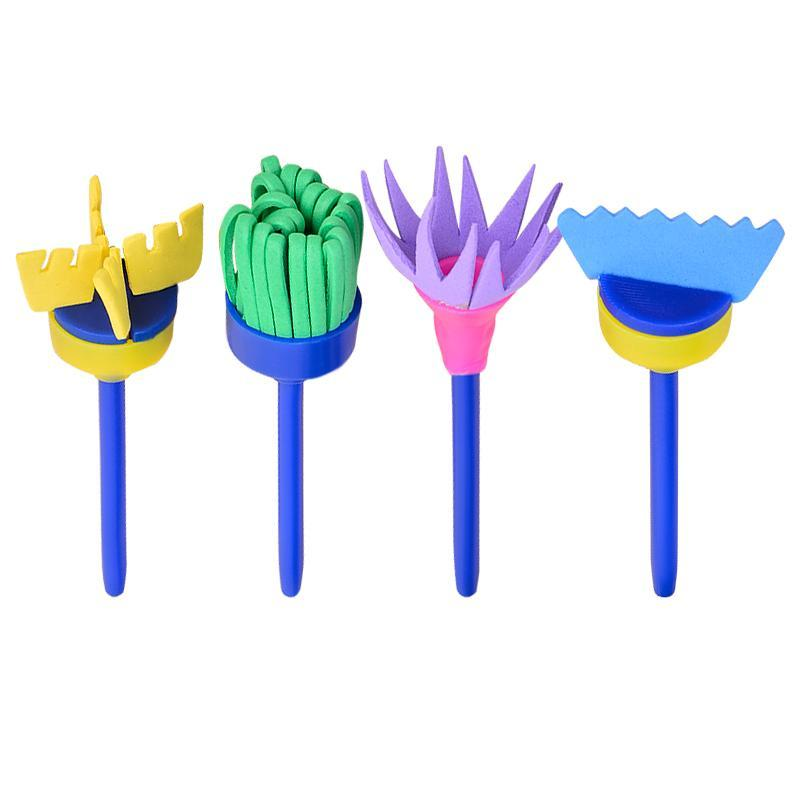 Office & School Supplies Amiable 4pcs/set Rotate Spin Sponge Painting Brushes Children Flower Graffiti Toys As Effectively As A Fairy Does
