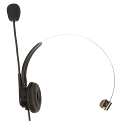Rj11 cabeça de cristal fone de ouvido telefone com miniphone