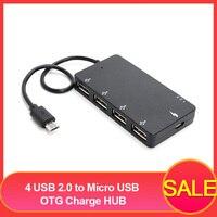 4 USB 2,0 на Micro USB OTG гнездо для зарядки Адаптер Универсальное зарядное устройство для смартфонов U диск MP3 для Windows системы планшеты профессиона...
