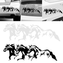 New Arrival 1pc 25*8.1cm Running Horses Car Self-Adhesive Sticker Decal Waterproof Decoration