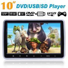 VODOOL 10 дюймовый универсальный для автомобиля HD цифровой ЖК-дисплей экран подголовник монитор ультра-тонкая плоская панель DVD Дисплей HDMI Автомобильный видео плеер