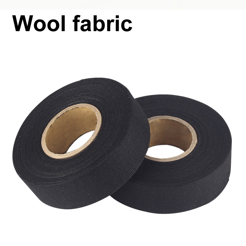 Automotive Wiring Harness Cloth Tape Car Anti Rattle Universal Black Flannel Self Adhesive Felt Tape