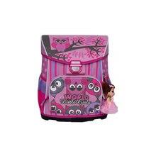 Рюкзак школьный Grizzly с мешком для обуви, розовый