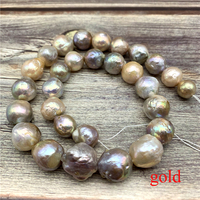 1 Strand 16 Inches Natural Pearl Beads Big Cultured Natural Baroque Pearl Beads for Jewelry Making and Jewelry Diy Necklace