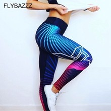 купить High Waist Yoga Pants Women's Fitness Sport Leggings Fashion Printing Elastic Gym Workout Tights S-XL Running Trousers Plus Size дешево