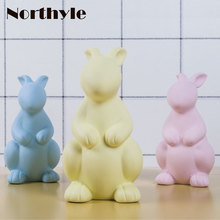 Northyle Colored clay bunny figurine Easter day gift rabbit statue art craft home decoration christmas gift for kids xmas decor snow bunny s christmas gift
