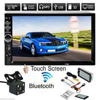 7 HD Bluetooth Touchs Screen 2 Din Car Stereo Radio FM AUX USB SD MP5 Player + Rear View Camera + Remote Controller