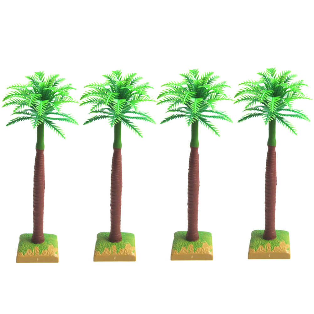 Detail Feedback Questions About 12 Pcs Plastic Coconut Palm Tree Miniature Plant Pots Indoor Table Top Decoration Simulation Bonsai Craft Green